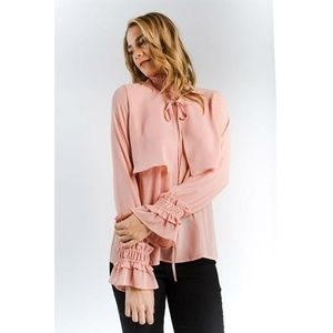 83b90f1e0a Palm Beach Boutique Tops - Ruffle Smock Neck Detail Bell Sleeve Blouse